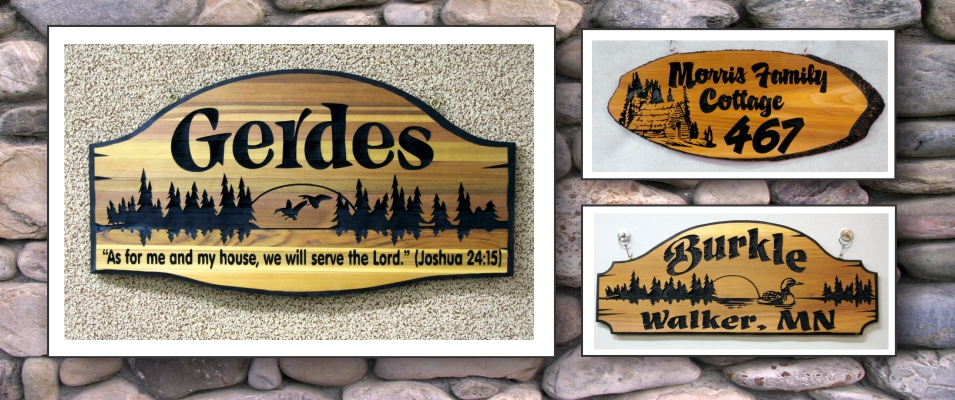 Carved Wooden Signs Custom Personalized Engraved